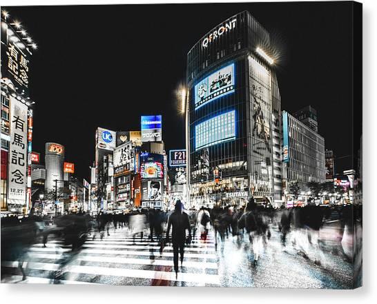 Shibuya Crossing Canvas Print by Carmine Chiriac??