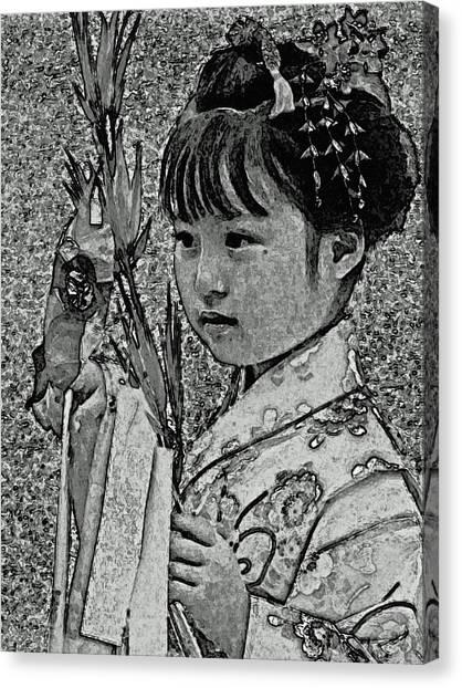 Shichi-go-san Girl Canvas Print