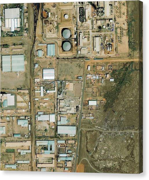 Shifa Pharmaceutical Plant Canvas Print by Geoeye/science Photo Library