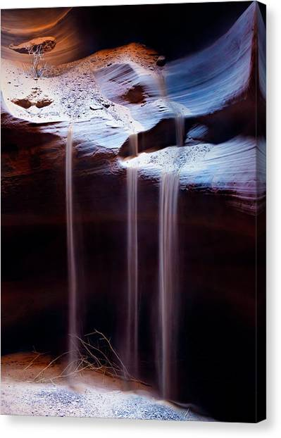 Limestone Caves Canvas Print - Shifting Sands by Dave Bowman