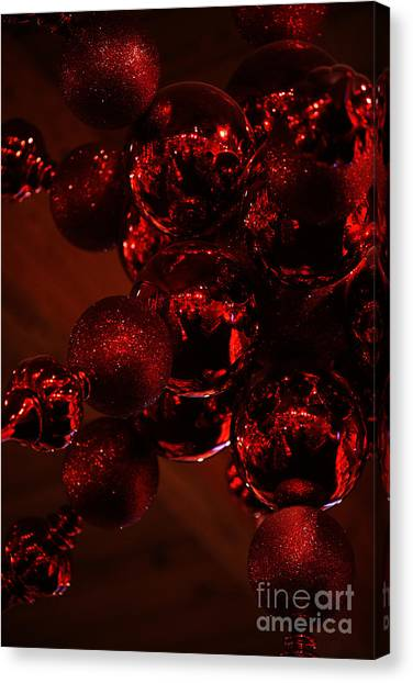 Shimmer In Red Canvas Print
