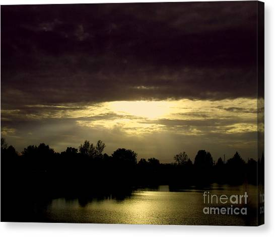 Shimmering Shadow Sunset Canvas Print