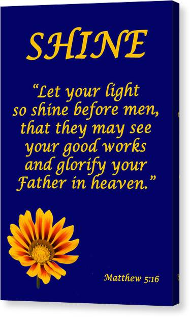 Shine Christian Poster Canvas Print