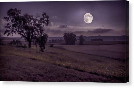 Shine On Harvest Moon Canvas Print