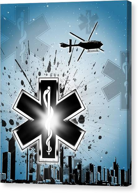 First Responders Canvas Print - Shine On by Melissa Smith