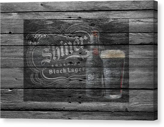 Lager Canvas Print - Shiner Black Lager by Joe Hamilton