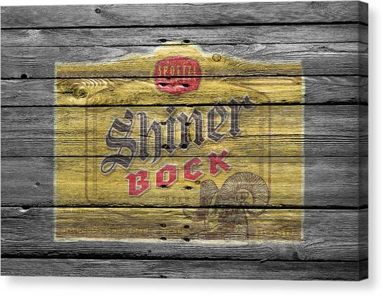 Beer Can Canvas Print - Shiner Bock by Joe Hamilton