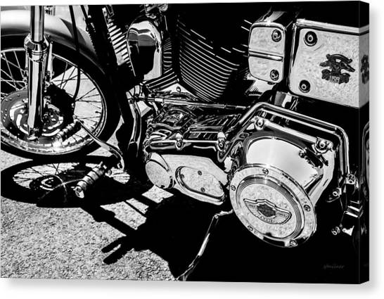 Shines On - 100th Anniversary Harley Davidson Canvas Print