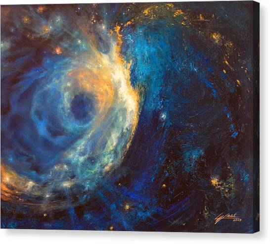 Shines The Nameless Canvas Print