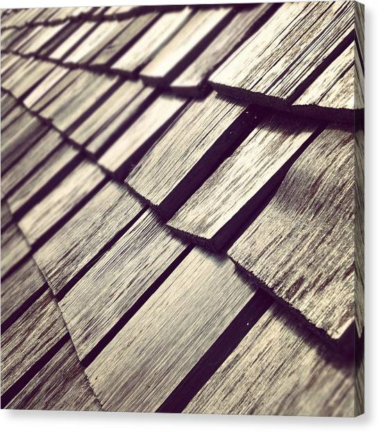 Architecture Canvas Print - Shingles by Christy Beckwith