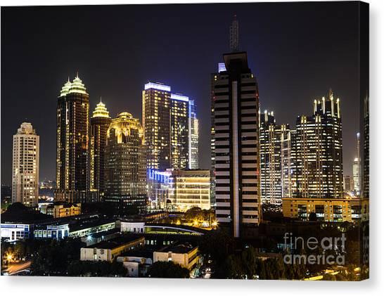 Shining Jakarta Canvas Print by Asiadreamphoto