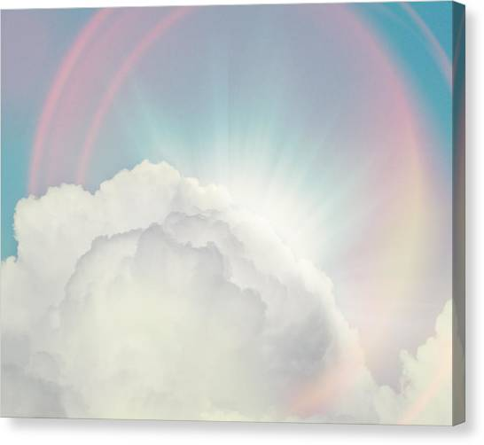 Cloud Canvas Print - Shining Through by Amy Tyler