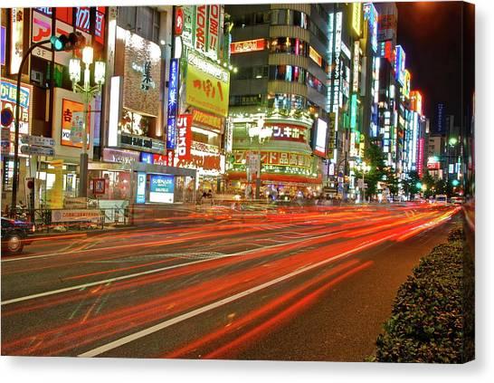 Shinjuku Neon Strikes Canvas Print