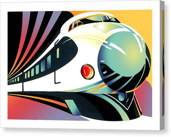 Bullet Trains Canvas Print - Shinkansen Train by David Chestnutt