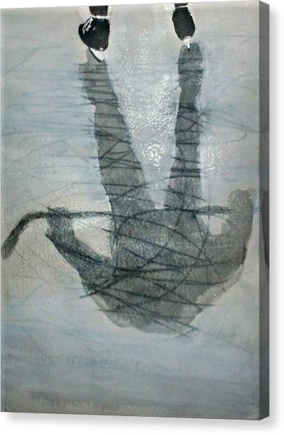 Shinny Shilouette Wc Canvas Print