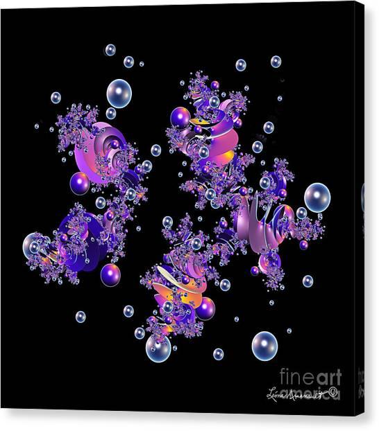 Shiny Bubbles Canvas Print by Leona Arsenault