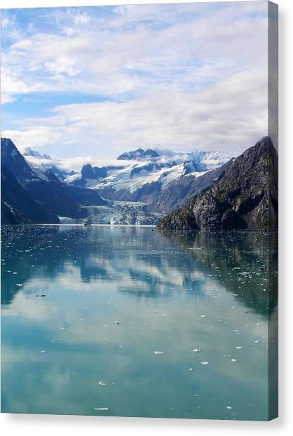 Ship Among Giants In Alaska Canvas Print