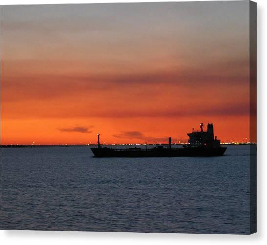 Ship Outbound Canvas Print