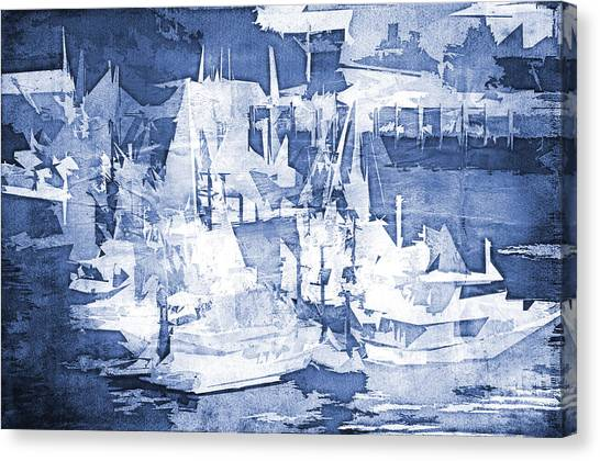 Ships In The Water Canvas Print