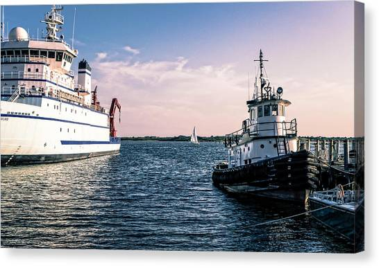 Ships Of Woods Hole Canvas Print
