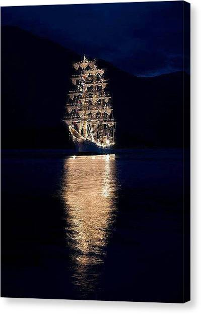 Ships That Pass In The Night Canvas Print