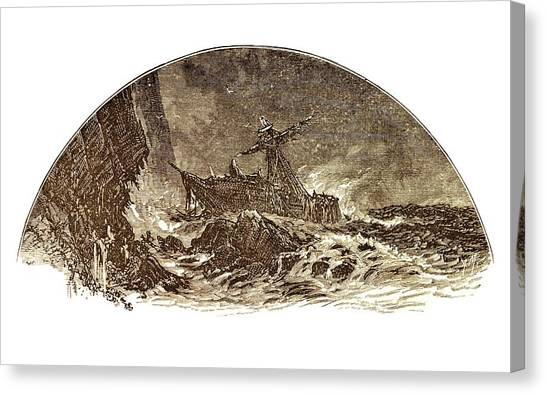 Drown Canvas Print - Shipwreck Illustration by David Parker/science Photo Library
