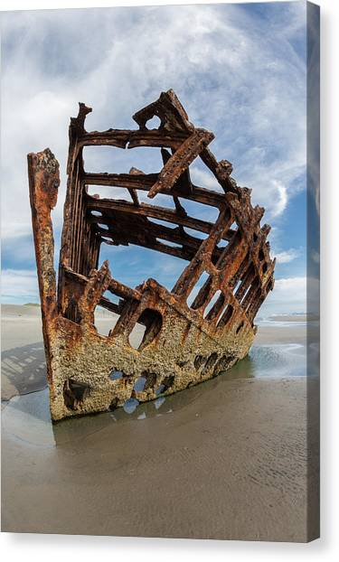 Peter Iredale Canvas Print - Shipwreck by Sara Hudock