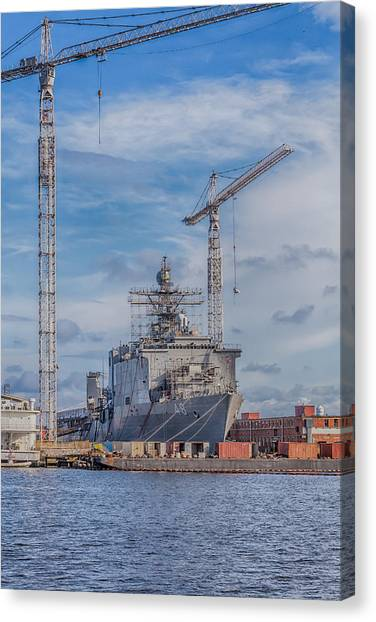 Shipyard Canvas Print
