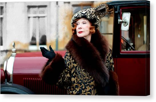 Shirley Maclaine @ Tv Serie Downton Abbey  Canvas Print