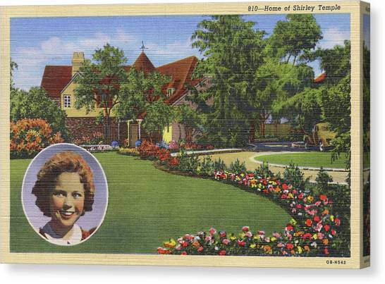 Shirley Temple Canvas Print - Shirley Temple (1928 - 2014)  Home by Mary Evans Picture Library