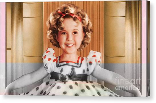 Shirley Temple Canvas Print - Shirley Temple by Marvin Blaine