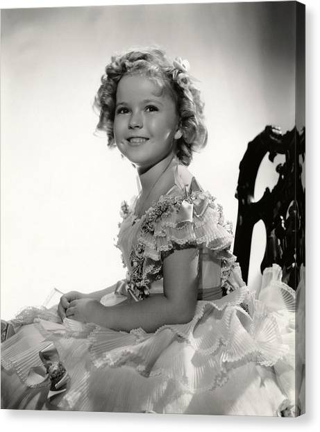 Shirley Temple Canvas Print - Shirley Temple Portrait by Georgia Fowler