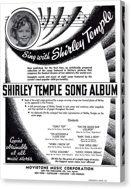 Tap Dance Canvas Print - Shirley Temple Song Album by Mel Thompson