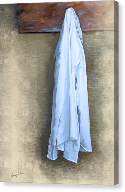 Shirt Hanging On A Wall Canvas Print