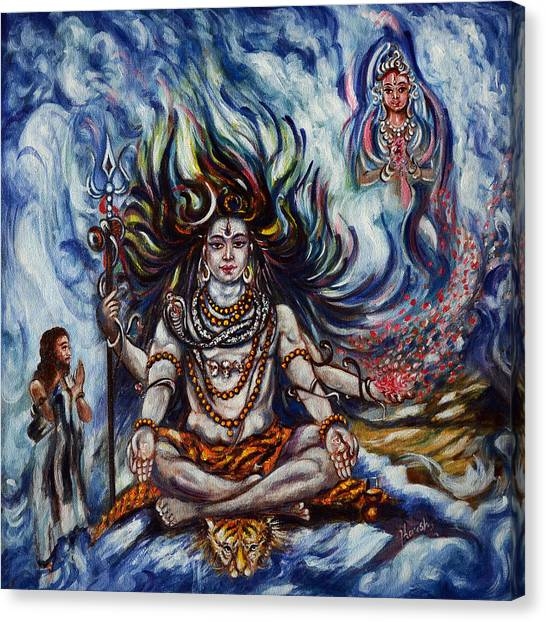 Shiva - Ganga - Harsh Malik Canvas Print