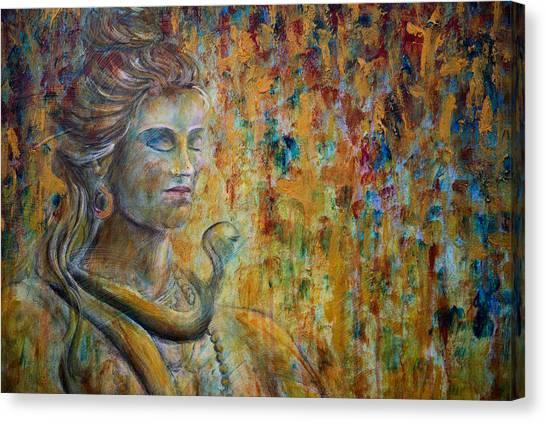 Shiva 2 - Close Canvas Print