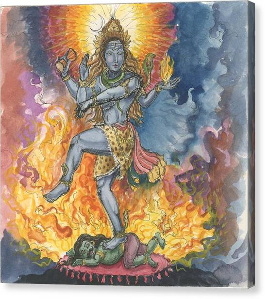 Shiva Nataraj Canvas Print