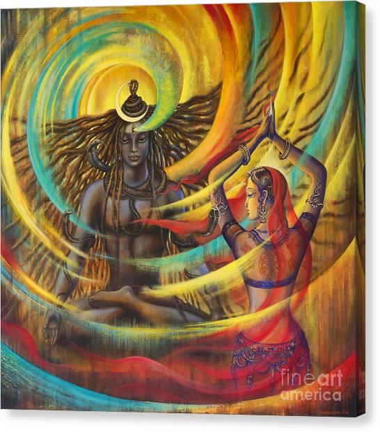 Himalayas Canvas Print - Shiva Shakti by Vrindavan Das