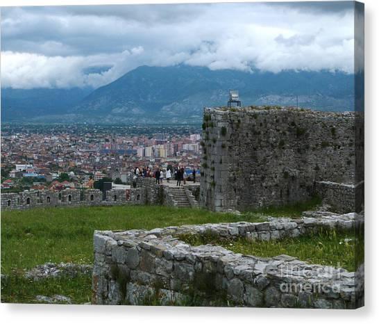 Shkoder From Rozafa Castle - Albania Canvas Print
