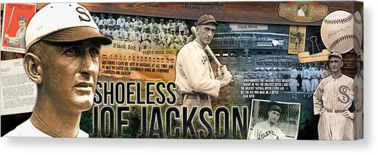 Babe Ruth Canvas Print - Shoeless Joe Jackson Panoramic by Retro Images Archive