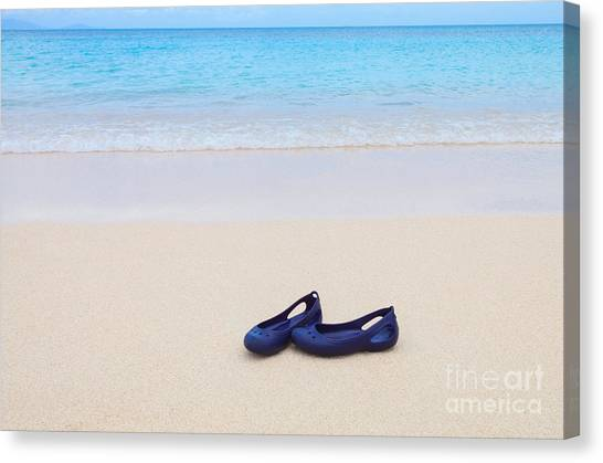 Shoes In Paradise Canvas Print