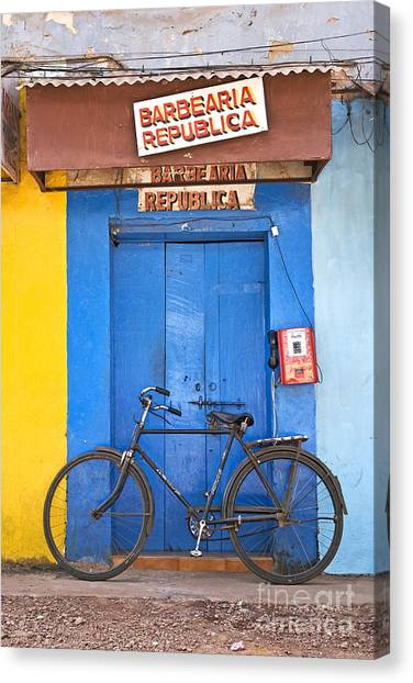 Shop On Street In Goa India Canvas Print