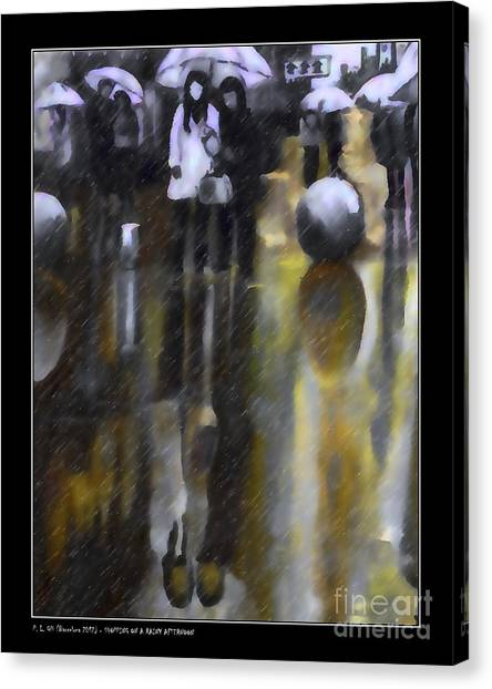 Shopping On A Rainy Afternoon Canvas Print