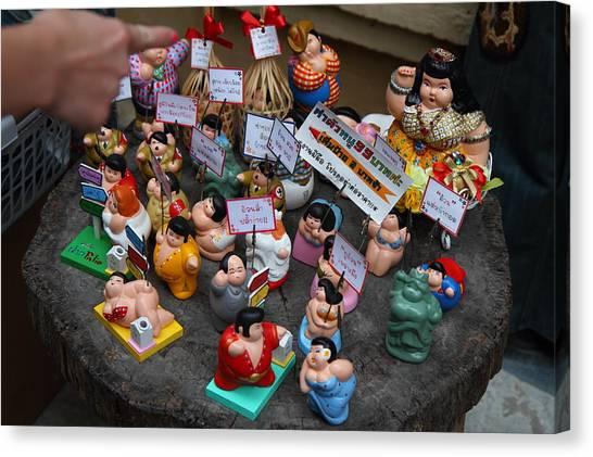 Piazza Canvas Print - Shops - Piazza Palio - Khaoyai Thailand - 01131 by DC Photographer