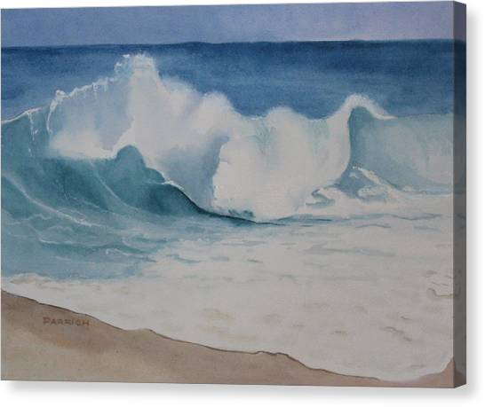 Shore Breaker Canvas Print by Parrish Hirasaki