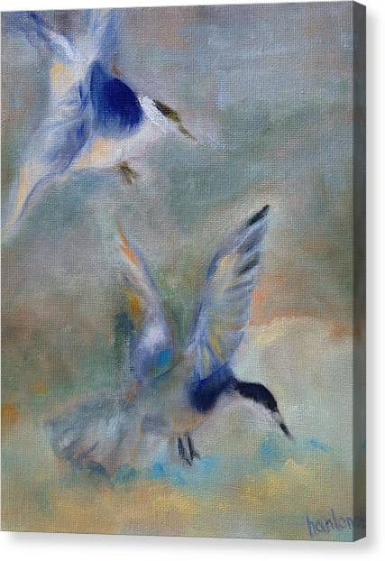 Shorebirds Canvas Print by Susan Hanlon