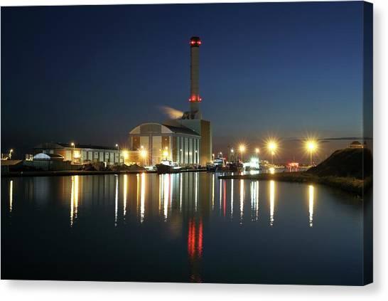 Shoreham Power Station Canvas Print by Martin Bond/science Photo Library