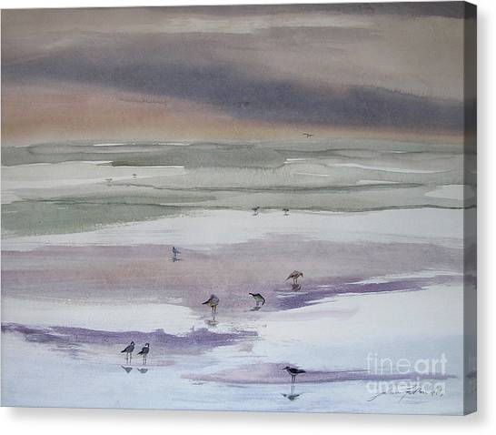 Shoreline Birds II Canvas Print