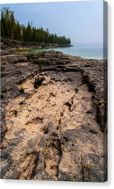 Underwater Caves Canvas Print - Shoreline Depression by Chuck De La Rosa