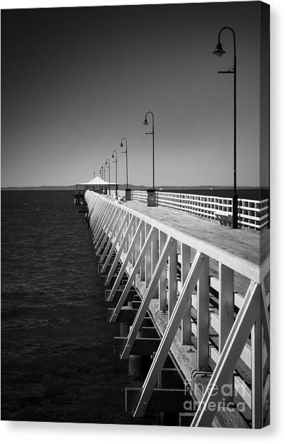 Shorncliffe Pier In Monochrome Canvas Print